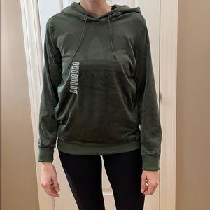 NWT velvet adidas hoodie